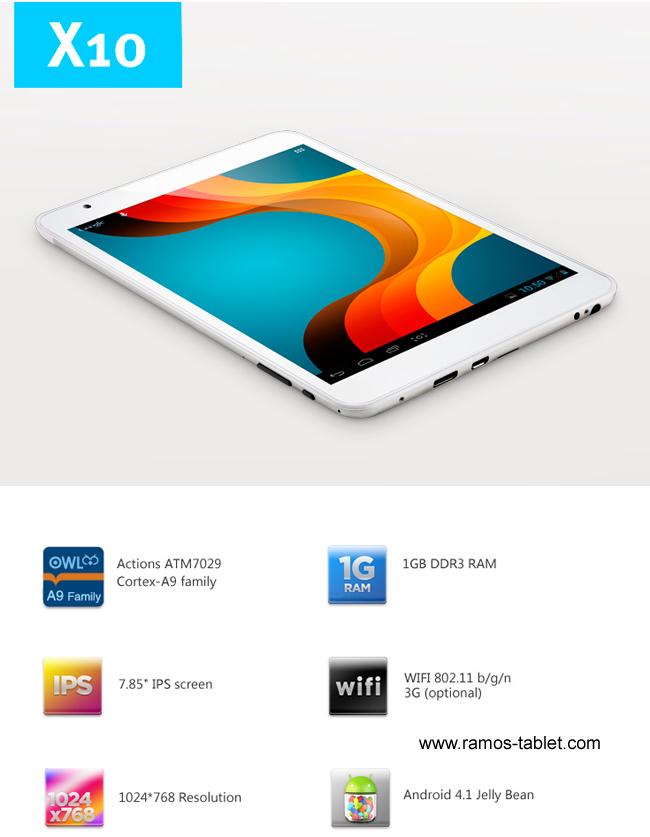 Ramos X10 Quad Core tablet announced