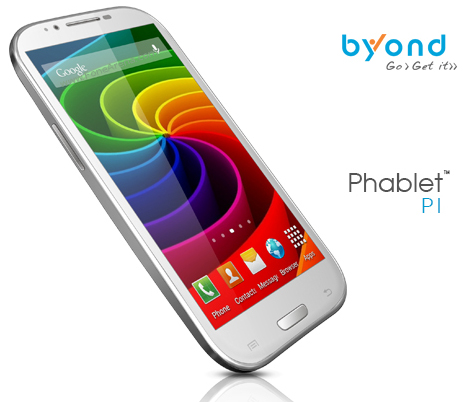 Byond Phablet PI Single Core phablet launched