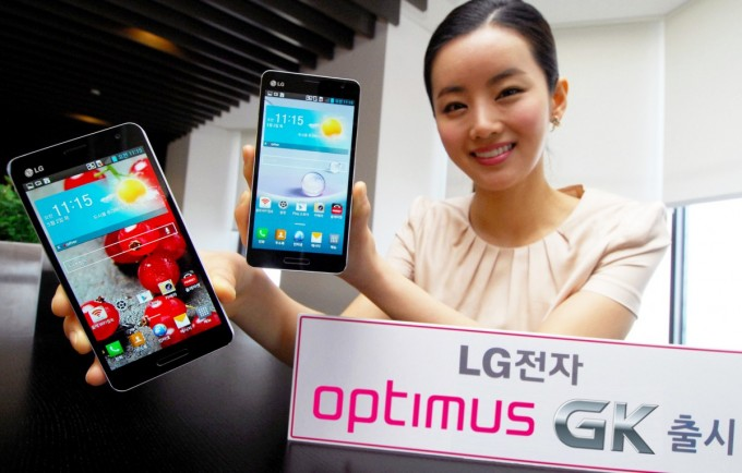 LG announces it's upcoming phone LG Optimus GK in the Smartphone market
