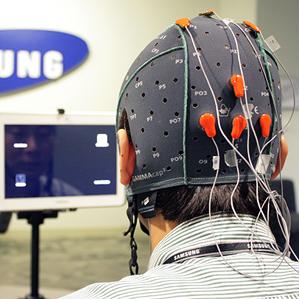 Samsung Human Brain Controlled tablet under work