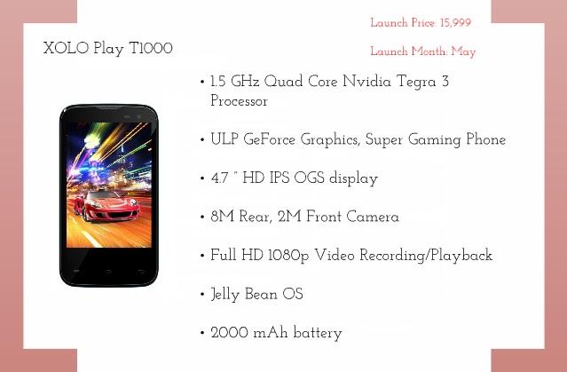 Xolo T1000 Smartphone