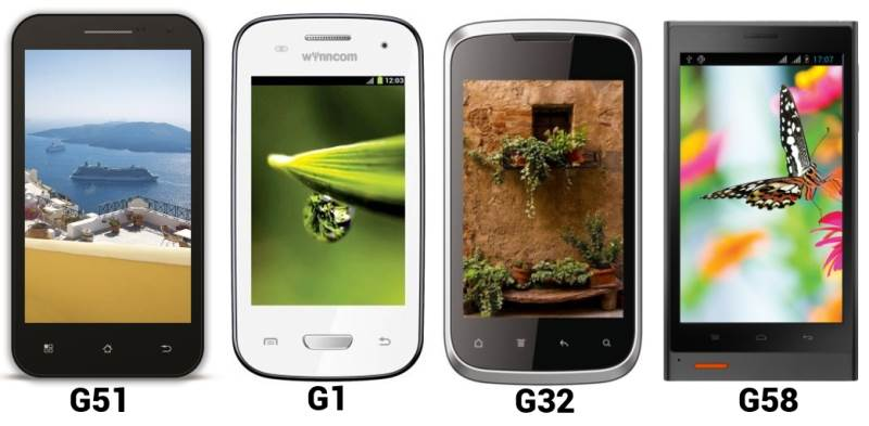 Wyncomm G1, G32, G51, G58 Smartphone launched