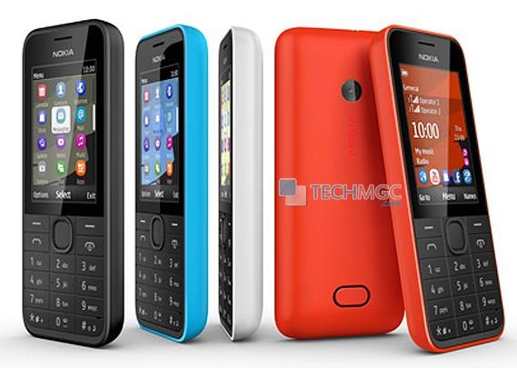 Nokia 207 and Nokia 208 feature phone
