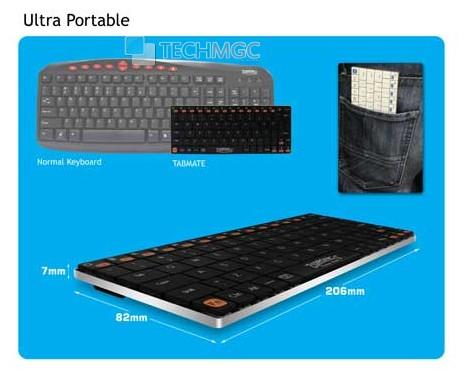 Zebronics Tabmate Ultrathin Bluetooth keyboard
