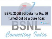 BSNL 3G 20GB Hoax